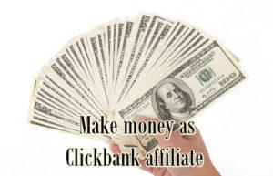 Make money as clickbank affiliate image